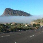Foggy headed down Shea